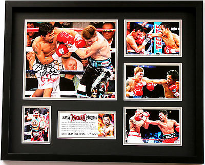 New Manny Pacquiao Signed Limited Edition Memorabilia