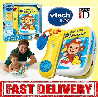 Vtech Baby Splash & Sing Bath Book Toy Lights And Sounds Musical Counting Book