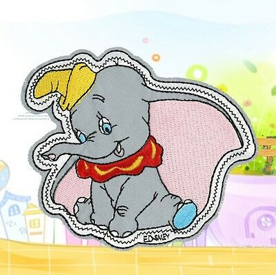 FD1337 Flying Elephant DIY Embroidery Cloth Iron On Patch Sew Motif Applique 1PC