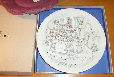 1973 Haviland Limoges MOTHER'S mothers DAY Plate BREAKFAST MIB