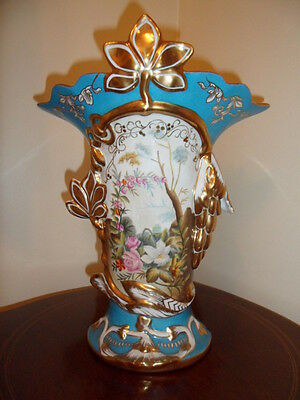 ELEGANT 19th Century French SEVRES Style Hand Painted Porcelain Pottery Vase