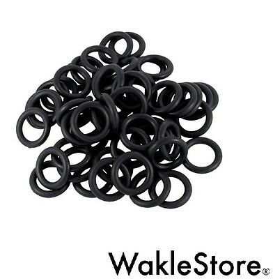50 O-RING NERI Black TATTOO Needle Rubber Grommets Elastico TATUAGGI SUPPLIES