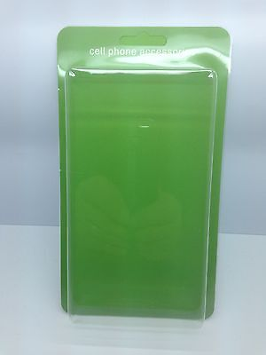 "Lot Of 100 New Cell Phone Accessory Blister + Insert 8"" X 4"".5 X 1"" Green"
