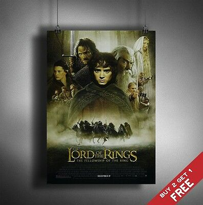 Plakaty artystyczne Sztuka Lord Of The Rings Fellowship Of The Ring LOTR Framed Poster Print 40x30cm