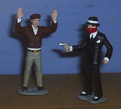 TOY SOLDIERS TIN AMERICAN 1930'S GANGSTER STICK UP MAN 54MM