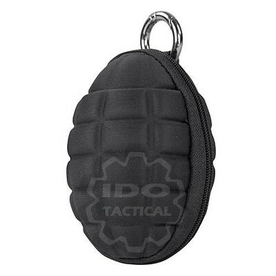 Condor 221043 Grenade Zippered Keychain Coin Pocket Pouch Black 221043-002