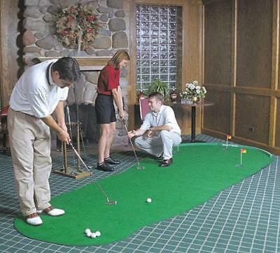 NEW Big Moss Golf THE ADMIRAL 6' X 15' Practice Putting Chipping Green w/ 3 Cups