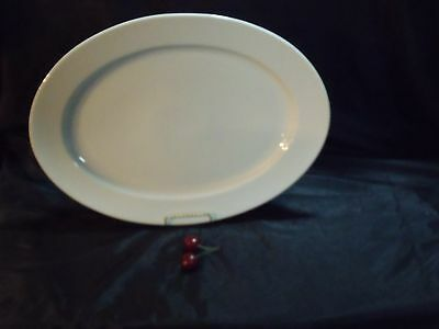"""LARGE HEINRICH GERMANY OVAL WHITE PORCELAIN 16 1/4"""" BY 11 3/4"""" PLATTER, EUC"""