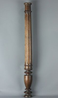 Antique French salvaged wood carved Column Baluster