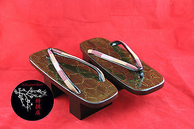 GETA Chaussures Japonaises 220 mm HANDMADE Traditional Japanese Shoes NEUF NEW