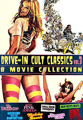 8 DRIVE-IN CULT CLASSICS Vol.3 (DVDs)  Jayne Mansfield  Robert Carradine. ....