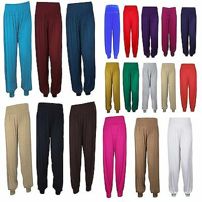 Ladies  Full Length Hareem Ali Baba Pants Women Baggy Trouser Harem Leggings