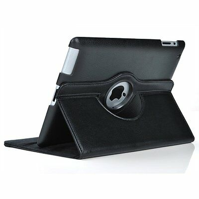 360 PU Rotating Premium Leather Cover Case For Apple iPad 2nd 3rd 4th 2 3 4 9.7