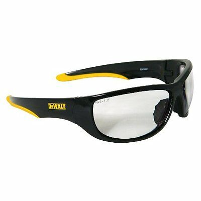 DEWALT DPG94-1D Dominator Clear Lens Black/Yellow Frame Safety Glasses NEW