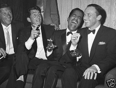 FRANK SINATRA DEAN MARTIN SAMMY DAVIS JR CANDID PHOTO The Rat Pack, NewYork 1961