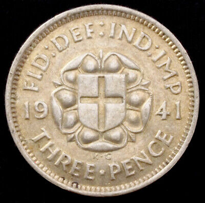 GB 0.500 Silver Threepence (Choose the Year) Fine or better