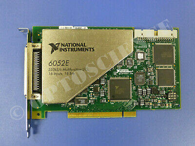 National Instruments PCI-6052E NI DAQ Card Analog Input 16 bit, 15 Gain Levels