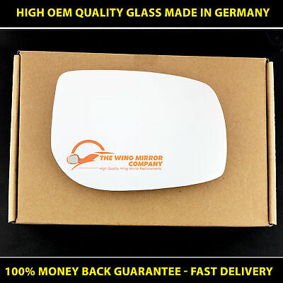 VAUXHALL CORSA 2000>06 PASSENGER SIDE Door/Wing Mirror Glass Silver,Heated&Plate