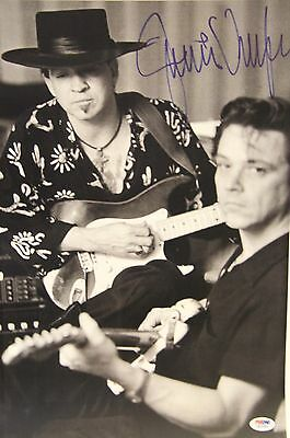 JIMMIE VAUGHAN w/ Stevie Ray Vaughan Signed 12x18 Photo PSA/DNA #W15360