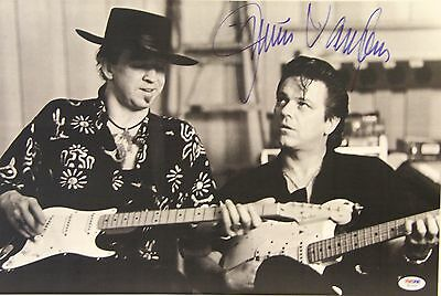 JIMMIE VAUGHAN w/ Stevie Ray Vaughan Signed 12x18 Photo PSA/DNA #W15350