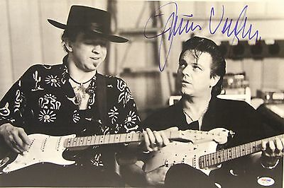JIMMIE VAUGHAN w/ Stevie Ray Vaughan Signed 12x18 Photo PSA/DNA #W15351