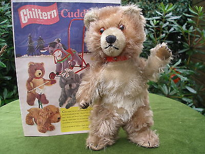 1950`S CHILTERN TEDDY BEAR OLD VINTAGE BEAR CUB AND 1957  CHILTERN TOY ADVERT