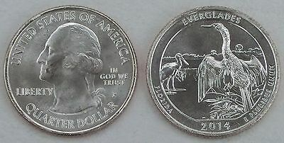 USA Quarter America the Beautiful - Everglades P 2014 unz.