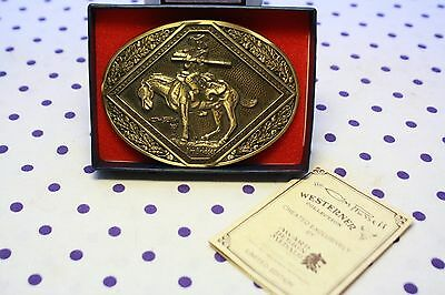 CM Russell Solid Brass Belt Buckle JIM BRIDGER Western Limited Edition Numbered