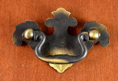 "Vintage KEELER BRASS Chippendale Pull N7742 Screw Holes 2 1/2"" ""One Only"""