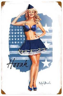 New! Air Force Girl Vintage Military Licensed  Metal Sign by Ralph Burch RB128