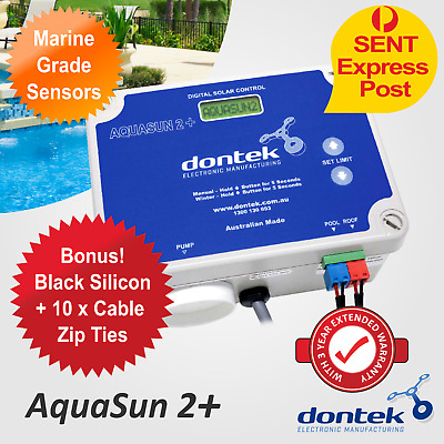 PoolMasterpro2 Solar Pool Heating System Pump Digital Controller Aquasun2 Dontek