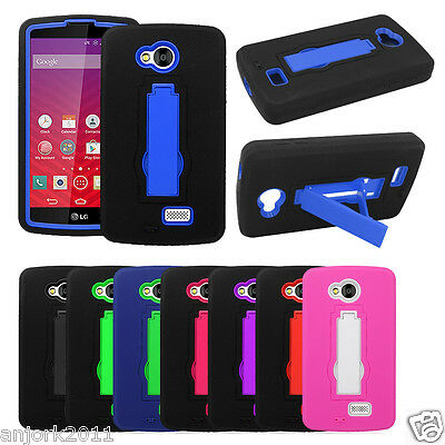 Lg Optimus F60 Tribute Transpyre Hybrid Rugged Case W/Stand Cover Ls660 Ms395