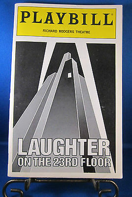 "Playbills 1990'S ""LAUGHTER ON THE 23RD FLOOR"" Richard Rodgers Theatre Feb. 1994"