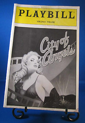 "Playbills 1990'S ""CITY OF ANGELS"" for The Virginia Theatre April 1990 L@@K!!"