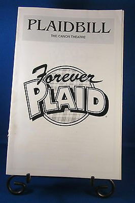 "Playbills 1990'S ""FOREVER PLAID"" for The Cannon Theatre March 3, 1992 L@@K!!"