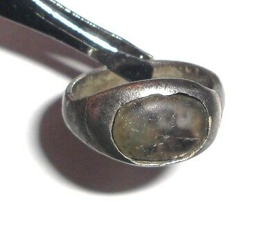 Ancient Roman Empire, 1st - 3rd c. AD. Silver ring with white stone