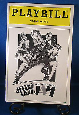 "Playbills 1990'S ""JELLY'S LAST JAM"" for The Virginia Theatre June 1992 L@@K!!"