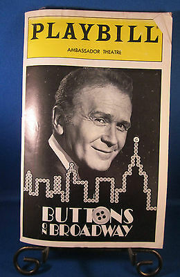 "Playbills 1990'S ""BUTTONS ON BROADWAY"" for The Ambassador Theatre July 1995 W@W!"