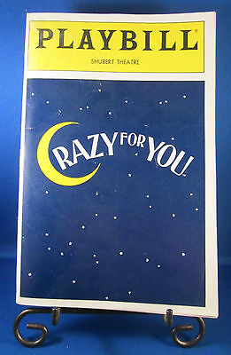"Playbills 1990'S ""CRAZY FOR YOU"" for The Shubert Theatre June 1992 Check It @UT!"