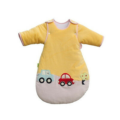 Warm Travel Baby Sleeping Bag 3.5Tog Cars Sleeves Removable 0-6 6-18 12-36M Cute