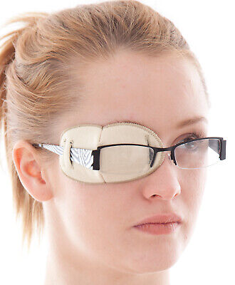 Medical Glasses Patch, PLAIN - REGULAR - Soft and Washable for Right or Left eye