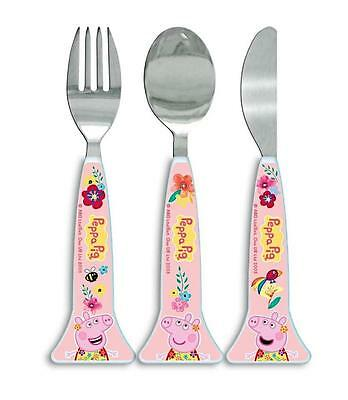"Spearmark Childs/Toddler/Infant Peppa Pig ""Tropical"" Cutlery Set Age 3 +"