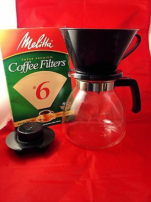 Melitta Coffee Perfection Pour Over Coffee Maker 6 cup 40 filters included