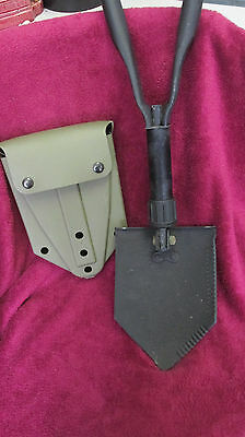 "Military Entrenching Tool With Hard Shell CaseTri-Fold Shovel ""US"" 4914103"