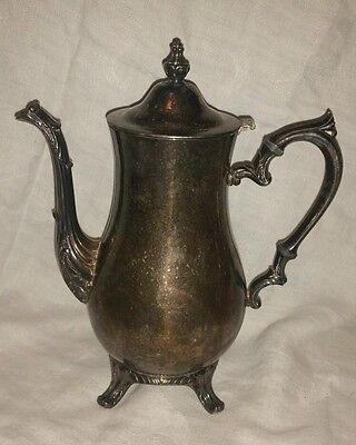 Vintage International Silver Co. antique silver plated teapot