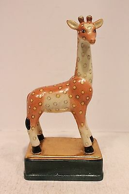 Beautiful Porcelain Giraffe Figurine Standing on Rectangular Base