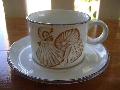 Vintage Midwinter Stonehenge Seascape Coffee Cup And Saucer Duo