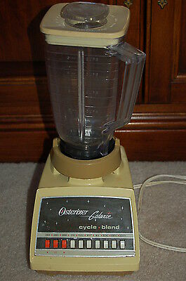 Vintage Oster Blender Cycle Blend Osterizer  Galaxie 10 speed Harvest Gold