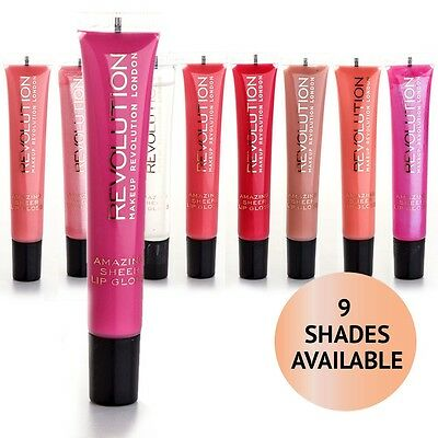 MakeUp REVOLUTION Amazing Sheer Lipgloss Tube ++Farbwahl++ NEU