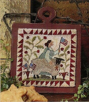 """Punchneedle Pattern by Brenda Gervais (With Thy Needle) """"Flag Day"""""""
